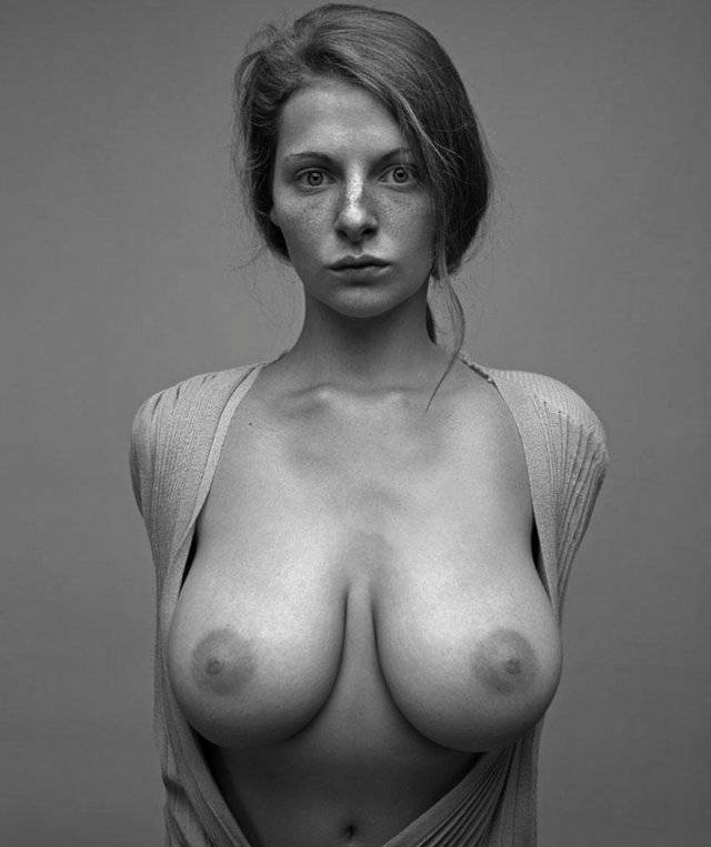 Just one superb babe with great big titties