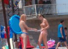 Topless beauties caught on the beach by perv voyeur