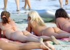 393-thumb-Group-of-friends-sunbathing-in-thong-bikinis Blonds naked sunbathing on the lake